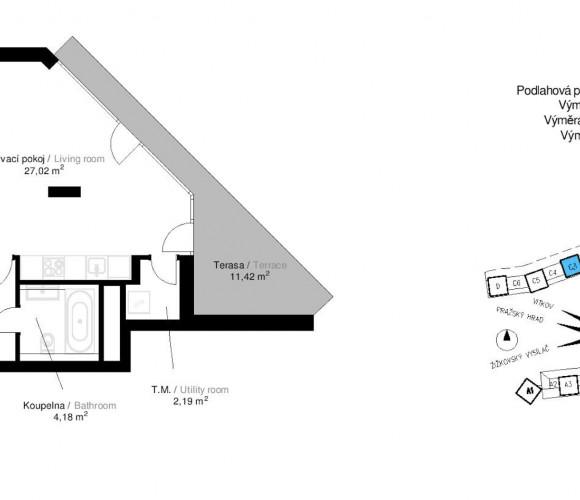 Prodej bytu 1+kk, 57 m2 - Malešická, Praha 3