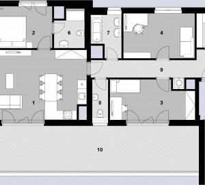 Prodej bytu 4+kk, 112 m2, Javorová čtvrť II., Praha 10