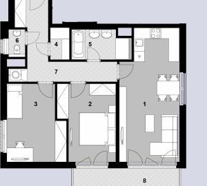 Prodej bytu 3+kk, 80 m2, Javorová čtvrť II., Praha 10