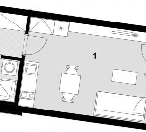 Prodej bytu 1+kk, 32 m2, Javorová čtvrť II., Praha 10