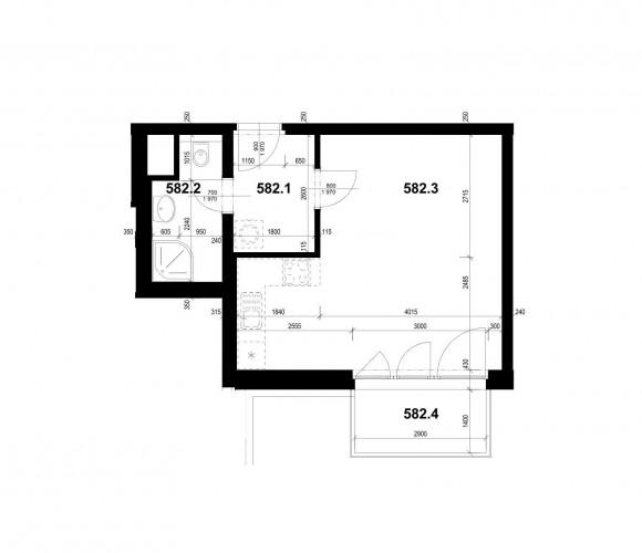 Prodej bytu 1+kk, 37 m2 - Olšanská, Praha 3