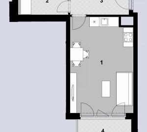 Prodej bytu 1+kk, 38 m2, Javorová čtvrť II., Praha 10