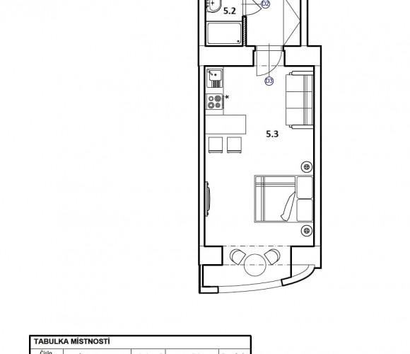 Prodej bytu 1+kk, 35 m2 - Zborovská, Praha 5