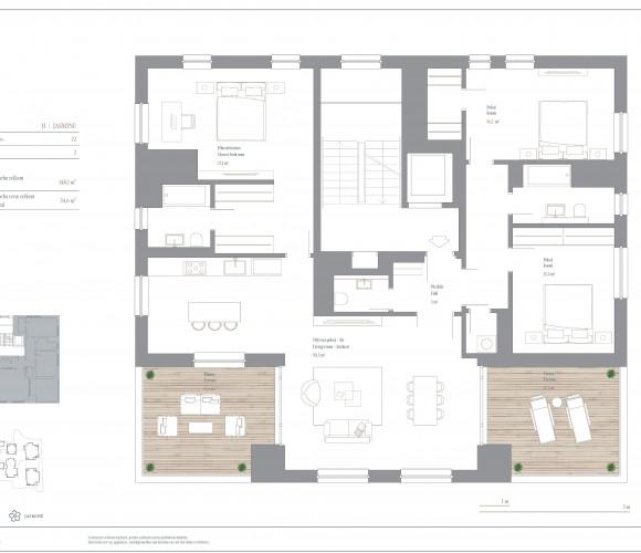 Prodej bytu 4+kk, 148 m2, Rezidence Troja, Praha 7, Pod Havránkou