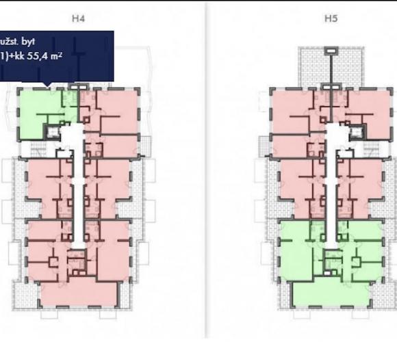 Prodej bytu 2+kk, 56 m2 - Honzíkova, Praha 9