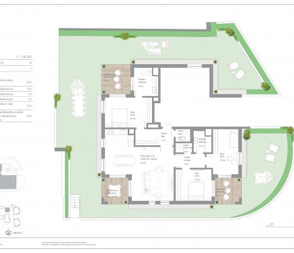 Prodej bytu 4+kk, 112 m2, Rezidence Troja, Praha 7, Pod Havránkou